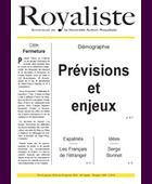 Démographie : Prévisions et enjeux | La Nouvelle Action Royaliste