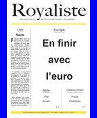 En finir avec l'euro | La Nouvelle Action Royaliste