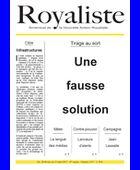 Une fausse solution  | La Nouvelle Action Royaliste