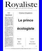 Le prince écologiste | La Nouvelle Action Royaliste