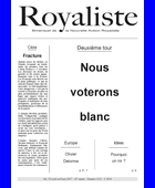 Nous voterons blanc | La Nouvelle Action Royaliste