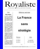 La France sans stratégie | La Nouvelle Action Royaliste