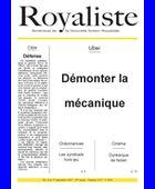 Démonter la mécanique | La Nouvelle Action Royaliste