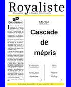 Cascades de mépris | La Nouvelle Action Royaliste