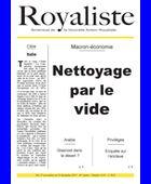 Macron-économie - Nettoyage par le vide | La Nouvelle Action Royaliste