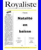 Natalité en baisse | La Nouvelle Action Royaliste