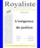 L'exigence du justice | La Nouvelle Action Royaliste