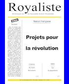 Projets pour la révolution | La Nouvelle Action Royaliste