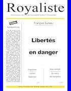 Libertés en danger | La Nouvelle Action Royaliste