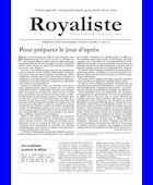 Pour préparer le jour d'après | La Nouvelle Action Royaliste