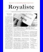 Un référendum ? Quelle farce ! | La Nouvelle Action Royaliste