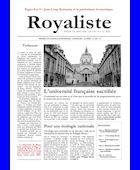 L'université française sacrifiée | La Nouvelle Action Royaliste