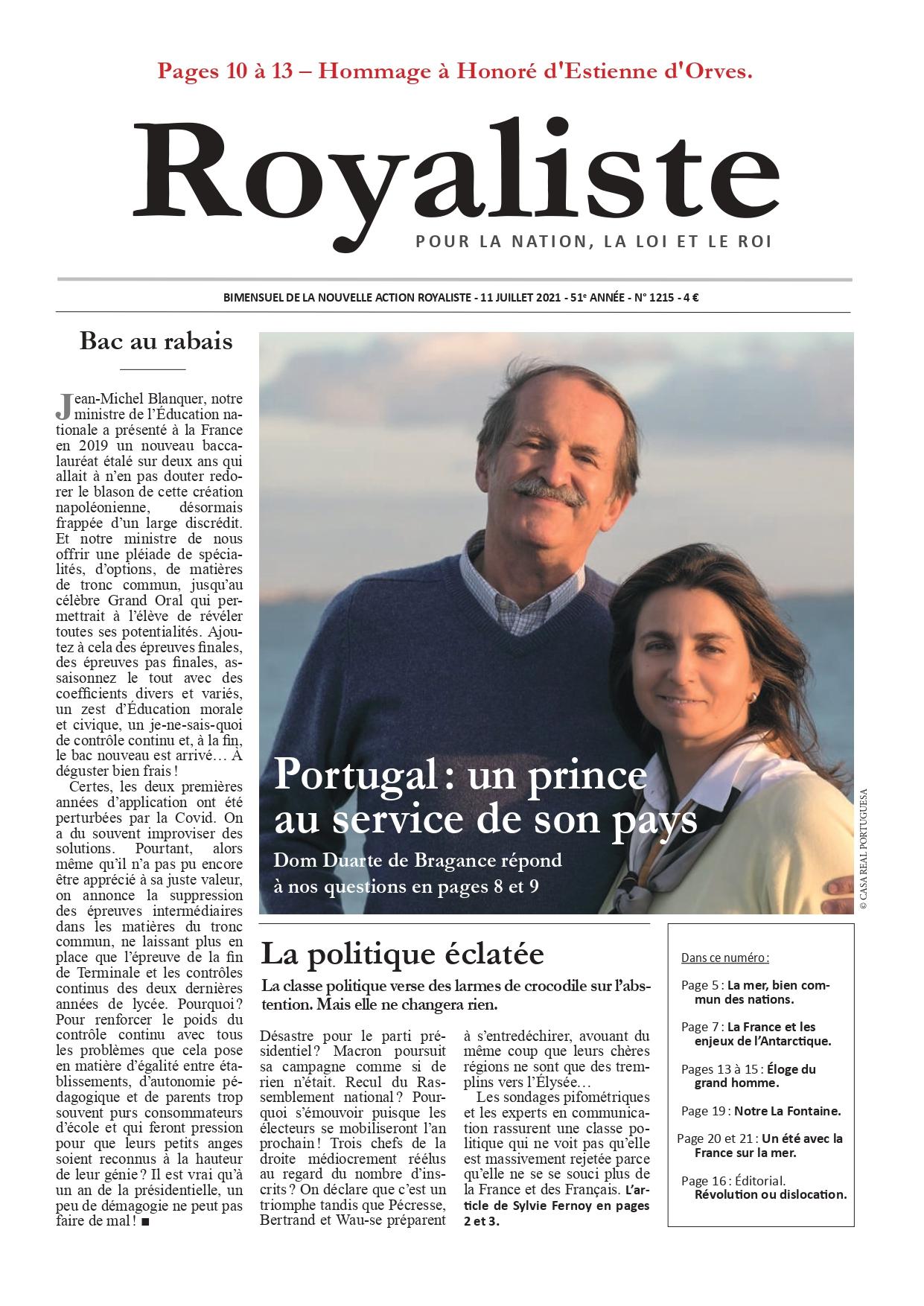 Portugal : un prince au service de son pays | La Nouvelle Action Royaliste