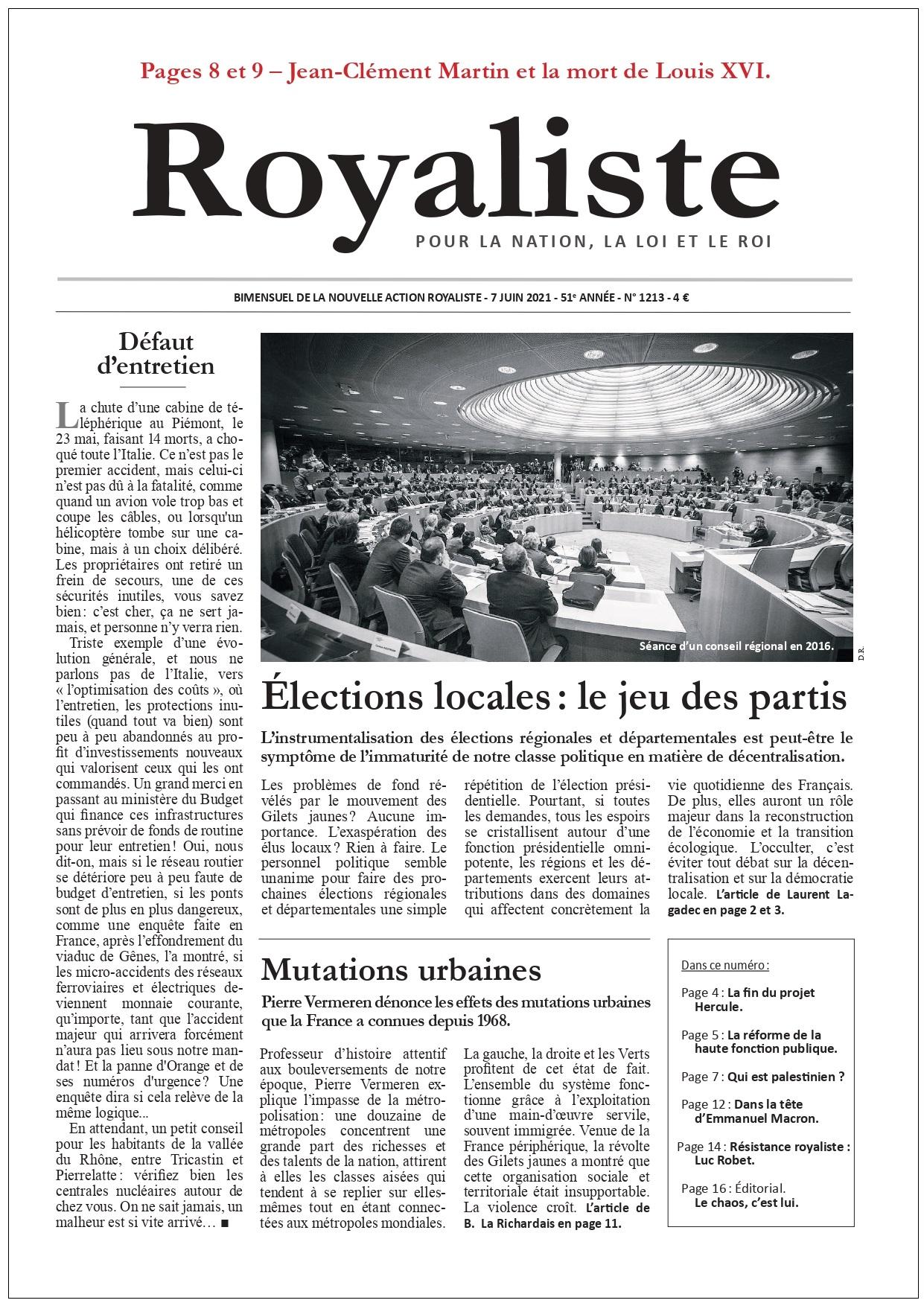 Elections locales : le jeu des partis | La Nouvelle Action Royaliste