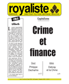 Crime et finance | La Nouvelle Action Royaliste