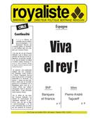 Espagne : Viva el rey ! | La Nouvelle Action Royaliste