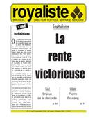 La rente victorieuse | La Nouvelle Action Royaliste