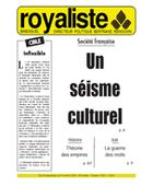 Un séisme culturel | La Nouvelle Action Royaliste