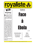 Face à Ebola | La Nouvelle Action Royaliste
