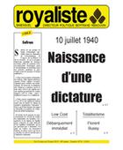 Naissance d'une dictature | La Nouvelle Action Royaliste