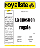 Roumanie : La question royale | La Nouvelle Action Royaliste