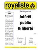 Intérêt public & liberté | La Nouvelle Action Royaliste