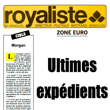 Le journal Royaliste  | La Nouvelle Action Royaliste