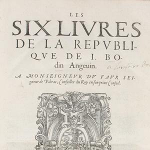 Les six livres de la Republique | La Nouvelle Action Royaliste